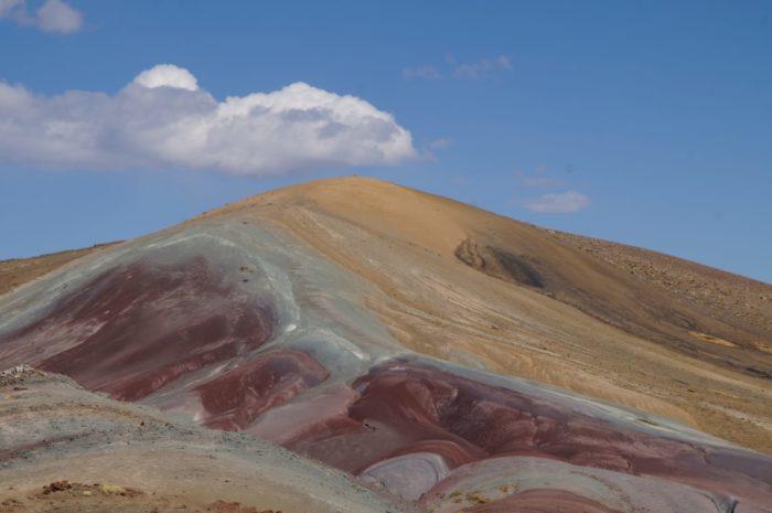 Mountain of Love near Cusco on a clear sunny day