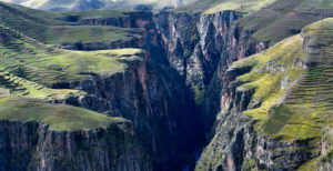 Aerial view of the Ananiso Canyon